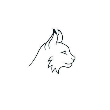 Lynx minimalistic linear logo isolated
