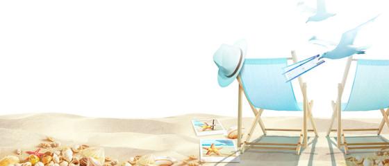 Strand Motiv mit Seemöwen