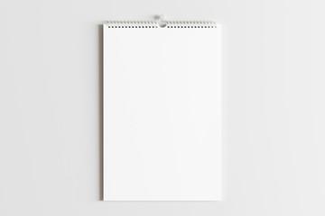 Blank calendar mock up on the wall.