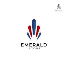 Beautiful gemstone emerald logo design template