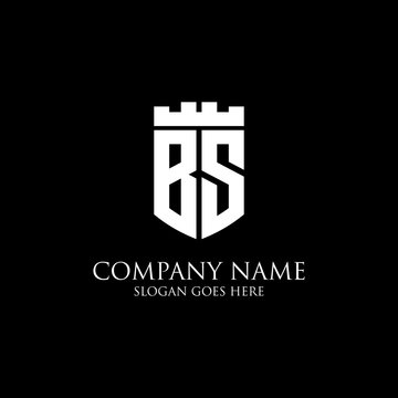 BS initial shield logo design Inspiration, crown royal logo template - easy to used for your logo
