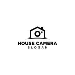 house camera graphic logo vector template