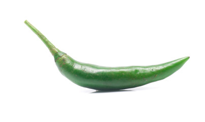 green chili pepper isolated on white background Wall mural