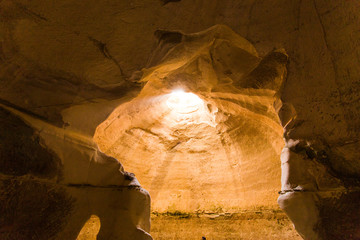 Wall Murals Ship ancient underground cave in the desert