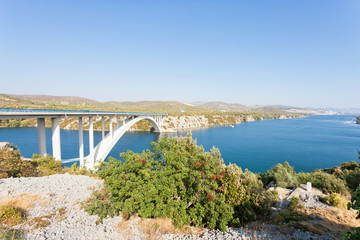Sibenik, Croatia - Rest at the famous Sibenski Most Bridge