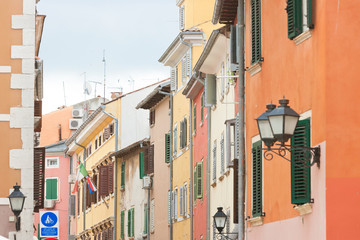 Rovinj, Istria, Croatia - Colorful facades in the streets of Rovinj