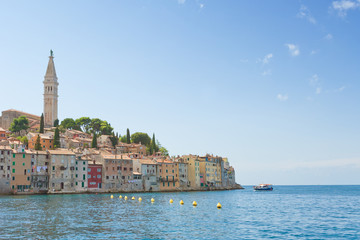 Rovinj, Istria, Croatia - Historic old town of Rovinj at the Mediterranean Sea