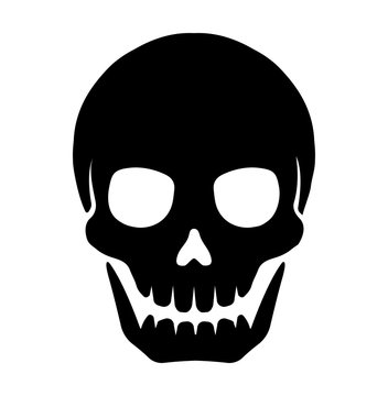 skull mark flat vector illustration ( danger / warning)