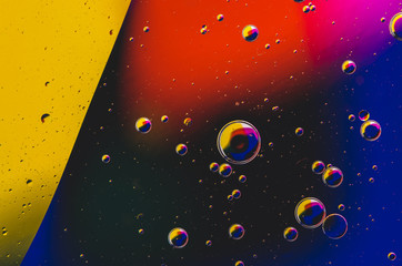 colorful abstract liquid form background