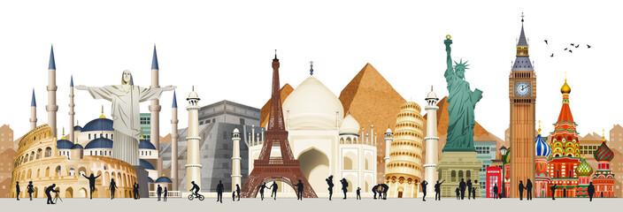 illustration of world city