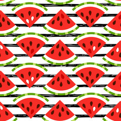 Seamless watermelon pattern for Your fresh summer design