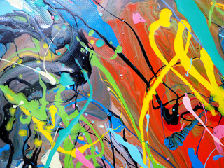 colorful oil paint multi colors abstract background. Wall mural