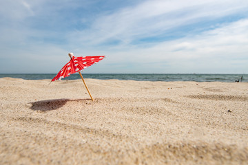 cocktail umbrella on the beach - Schleswig Holstein Germany