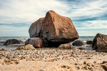 stones on the beach - Schleswig Holstein Germany