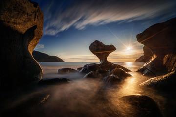 Kannestein Rock sunset Fototapete