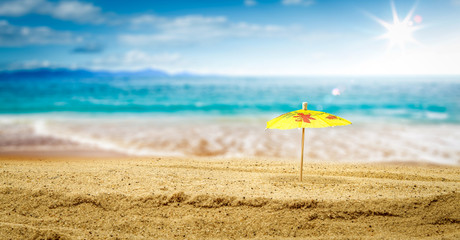 Summer sand background and free space for your decoration.
