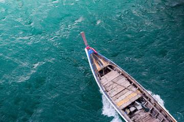 long tail boat in sea Fototapete