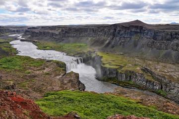 Hafragilsfoss on Jokulsa a Fjollum river, Island