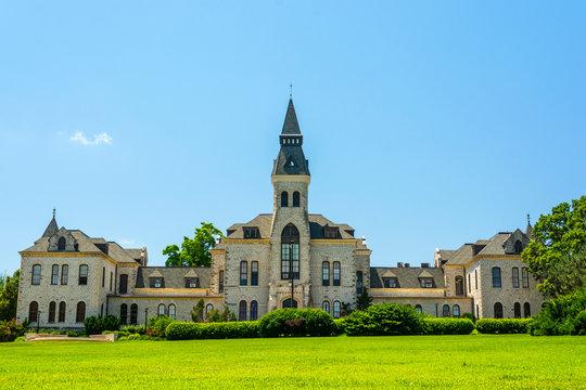 Kansas State University in Manhattan, Kansas on a Sunny Day