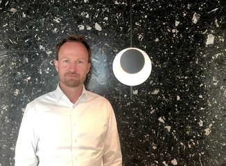 Swedish private equity group EQT CEO Sinding poses for a picture in Stockholm