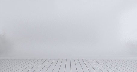 mock up empty room white wall background. 3d rendering Wall mural