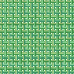 Weaved Coconut Leaves Vector Seamless Pattern Background