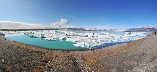 Jökulsárlón  - a large glacial lake in southeast Iceland, on the edge of Vatnajökull National Park.