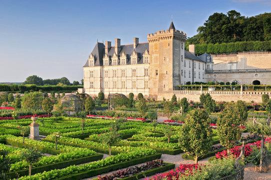 Villandry Castle with garden Indre et Loire Centre France.