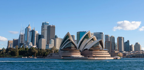 Aluminium Prints Sydney Sydney Australia. Opera House and skyline.