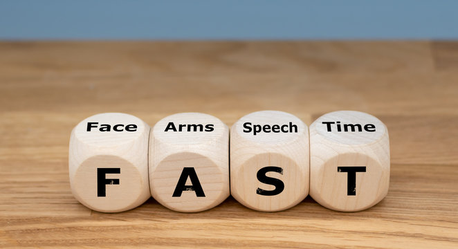 "The acronym ""FAST"" is used as mnemonic to help a person having a stroke. ""FAST"" stands for ""facial drooping"", ""arm weakness"", ""speech difficulties"" and ""time to call emergency services""."