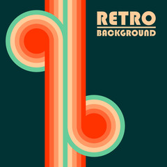 Retro design background with colored twisted stripes