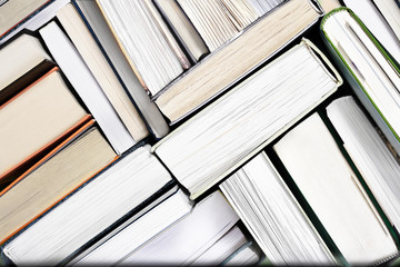 Old Books Background, Top View