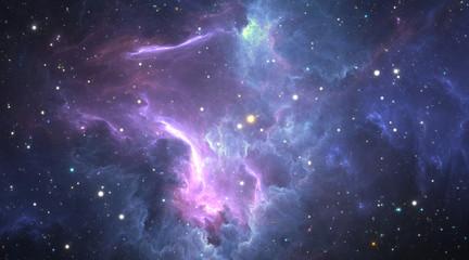 Fototapete - Stellar system and gas nebula.