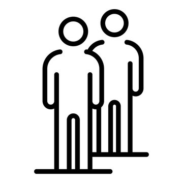 People friends icon. Outline people friends vector icon for web design isolated on white background
