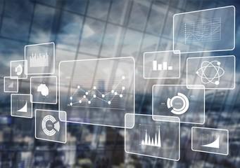Analytics data big business intelligence background bi Wall mural