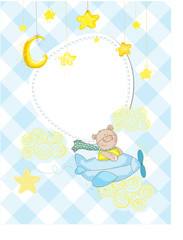 baby birthday card ,baby shower wall poster