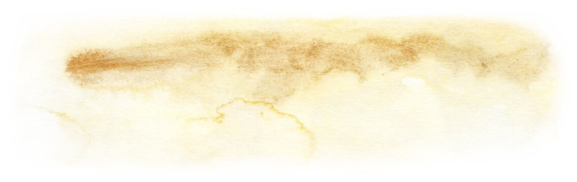 Hand painted watercolor gold texture. Hand drawn illustration isolated on white background.
