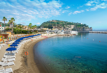 Wall Mural - Landscape with beach of  Lacco Ameno, coast of Ischia island, Italy