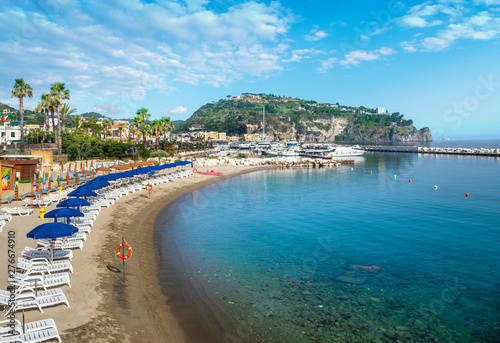 Wall mural Landscape with beach of  Lacco Ameno, coast of Ischia island, Italy