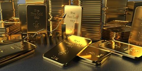 Fototapete - Rising Gold Rate