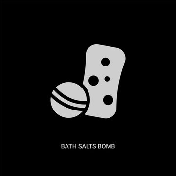 white bath salts bomb vector icon on black background. modern flat bath salts bomb from beauty concept vector sign symbol can be use for web, mobile and logo.