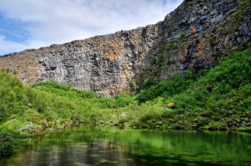 Ásbyrgi  -  glacial canyon in the north of Iceland