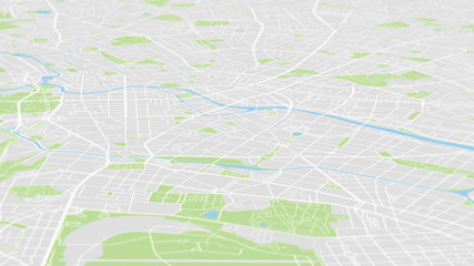 Aerial view City map Berlin, color detailed plan, urban grid in perspective