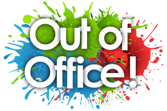 out of office in splash's background