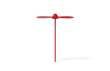 Blank promotional spinning dragonfly mock up template for branding, 3d illustration