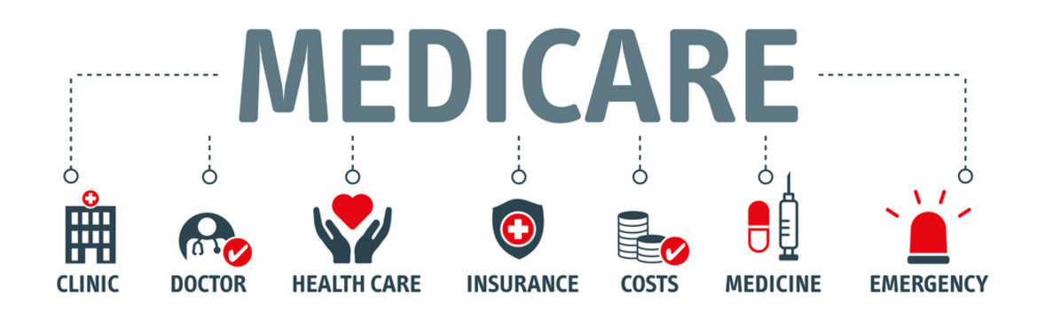 Banner medicare vector illustration concept
