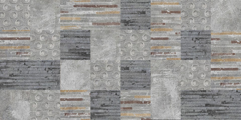 set of seamless patchwork patterns Wall mural