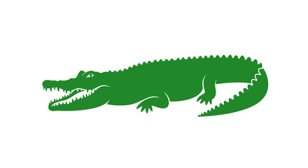 Crocodile logo. Abstract crocodile on white background