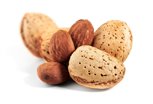 marcona almonds isolated