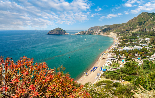 Wall mural Landscape with Maronti beach, Ischia island, Italy